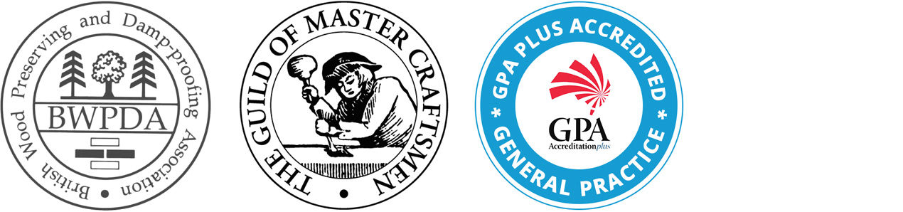 BWPDA Logo / Guild of Master Craftsmen Logo / GPA Accredited